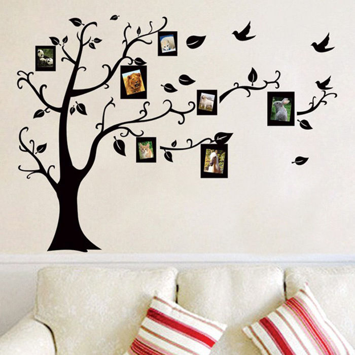 Outstanding family room art feature decor vinyl wall stickers decal 60cm x 140cm