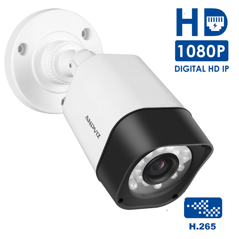 HD 1080P Outdoor Bullet IP Camera PoE H.265 2MP Outdoor Waterproof Night Vision Security Video Surveillance Camera Onvif h 265 h 264 2mp 4mp 5mp full hd 1080p bullet outdoor poe network ip camera cctv video camara security ipcam onvif rtsp