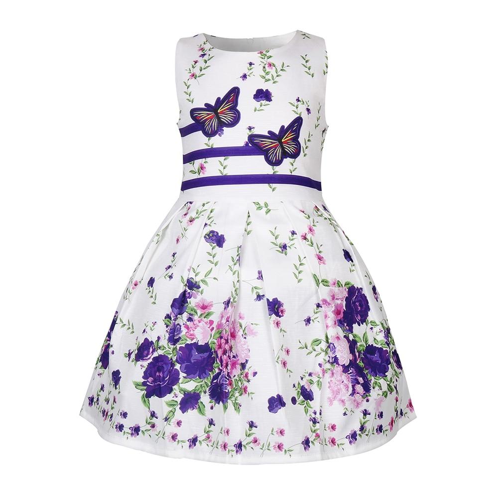 Summer butterfly dresses baby clothes toddler girl sleeveless princess flower for girls vestidos 50017