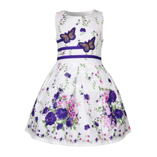 Summer butterfly dresses baby clothes toddler girl sleeveless princess flower for girls vestidos 50017