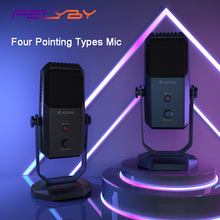 лучшая цена FELYBY SF-900 Condenser Professional Recording USB Microphone for Gaming, Podcasting,Instrument Pickup Karaoke Stereo Microphone