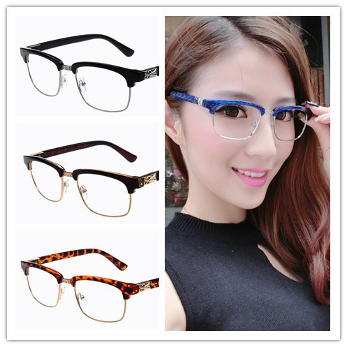 Popular Ladies Eyeglass Frames : Aliexpress.com : Buy Semi rimless Glasses Frames Classic ...