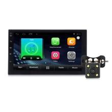 Zeepin 7002 Android 6.0 2 Din Araba Radyo Çalar Oto GPS Navigasyon Bluetooth Araç MP5 Player Direksiyon Simidi-Dikiz Kamera WiFi