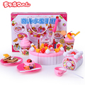 girl child 's play kitchen a set kitchen toy 73 pcs creative fruit birthday cake assembled
