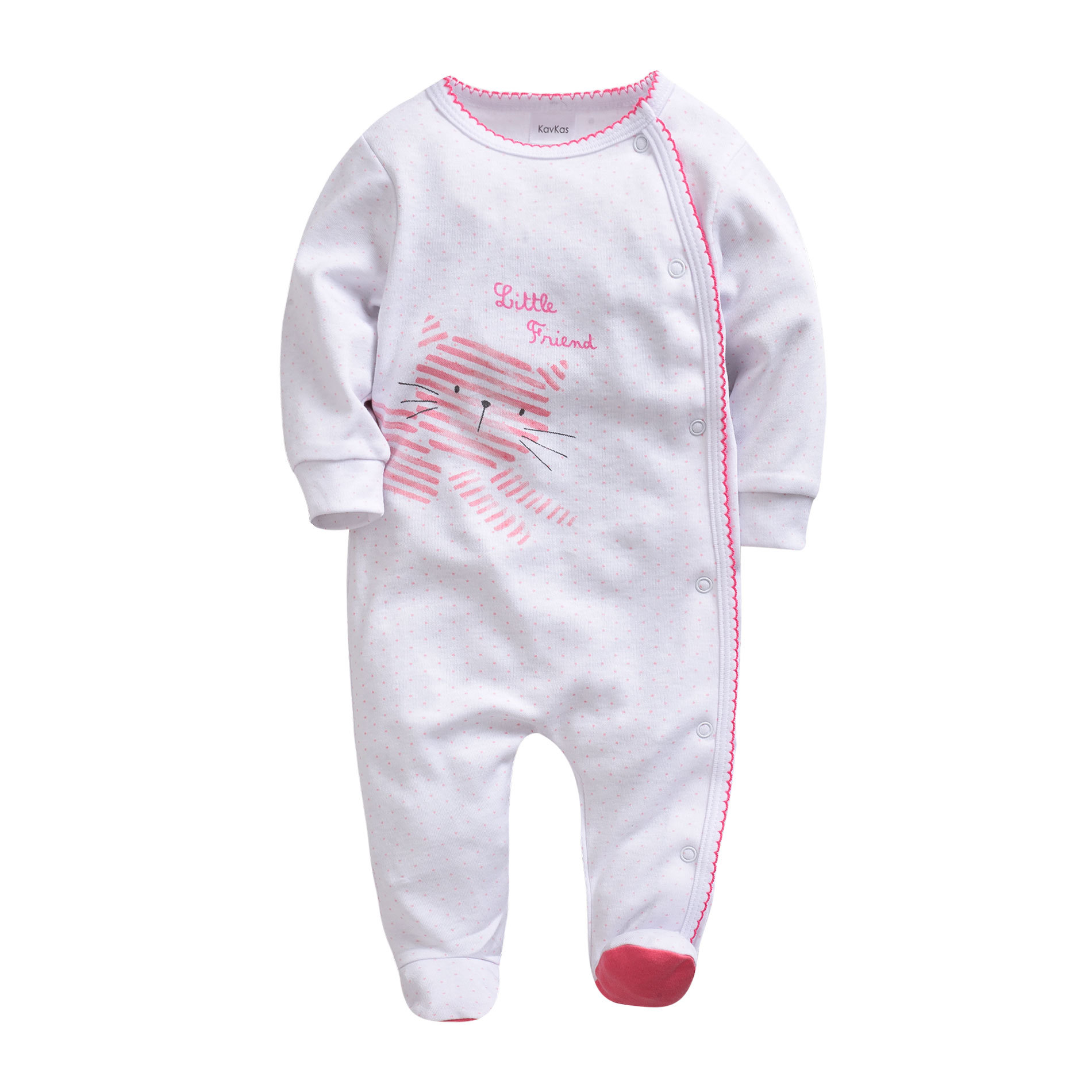 Morningtwo Newborn Baby Romper Clothes Stiped Long Sleeve Jumpsuit