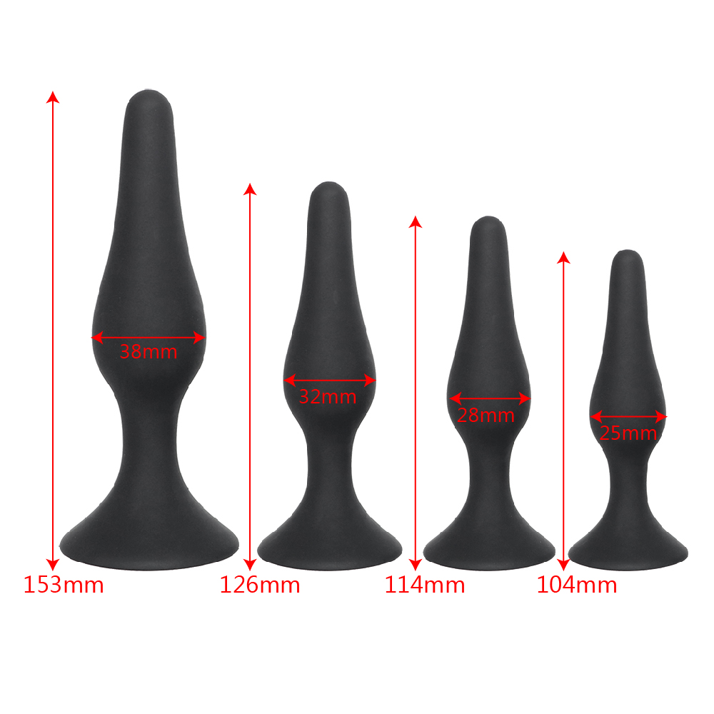 IKOKY Black Butt Plug for Beginner Erotic Toys Silicone Anal Plug Adult Products Anal Sex Toys for Men Women Prostate Massager 8
