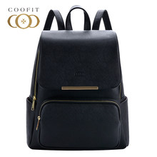 2cfa308046 Coofit Design Concise Womens Backpack Leisure PU Leather School Bagpack For  Girls Teens Female Backpacks Travel Black Rucksack