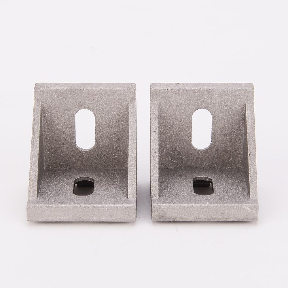 10pcs or 20pcs Aluminum Angle Bracket for Aluminum profile Extrusion 4040 Series