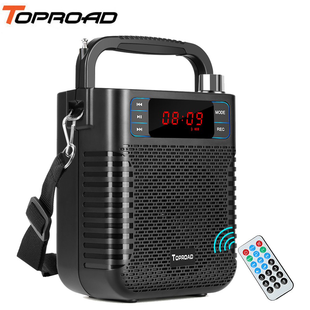TOPROAD Bluetooth Speaker Wireless Stereo Subwoofer Heavy Bass Speakers Music Player Soundbox Support Microphone USB FM