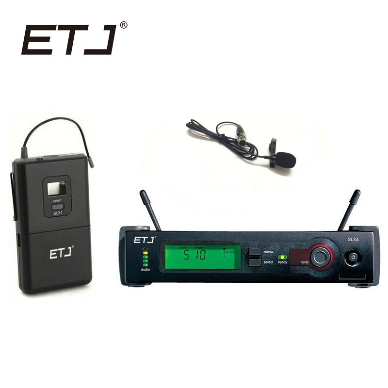 ETJ Brand Professional UHF Wireless Dual Microphone System SLX14 Clip Mic SLX Bodypack Lavalier Microphone professional microfone lapela mini xlr 3 pin ta3f tie clip on lavalier microphone lapel mic for pc wireless bodypack transmitter