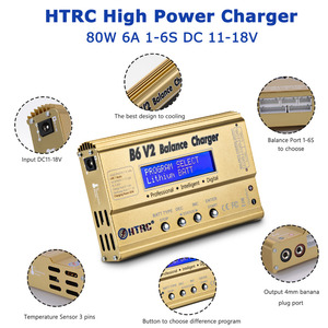 Image 4 - HTRC Imax B6 V2 Balance Charger 80W Professional Digital Discharger For LiHV LiIonLiFe NiCd NiMH PB Battery LiPo Charger
