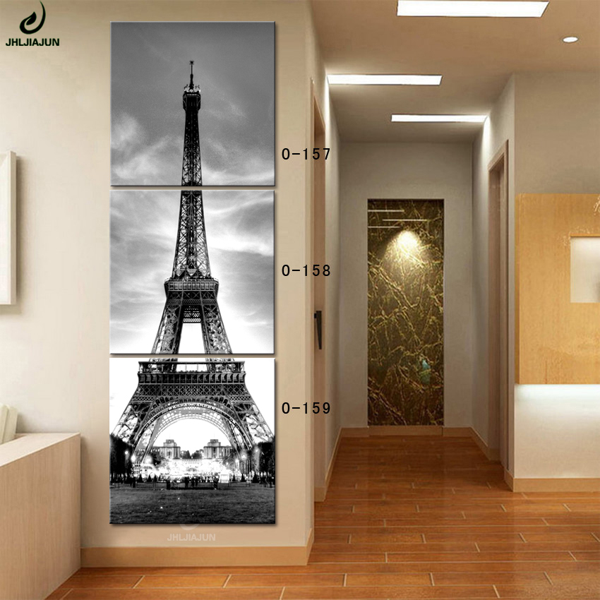 Modular Pictures Paris Art Canvas Eiffel Tower Painting 3 Panel Paintings On The Wall Cuadros Decoracion Kids Poster HD Print