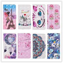 цена на Fashion animal PU Leather phone Case for Samsung Galaxy A7 2018 A750 Stand Wallet Cover For Samsung A7 2018 A750F Flip Cases