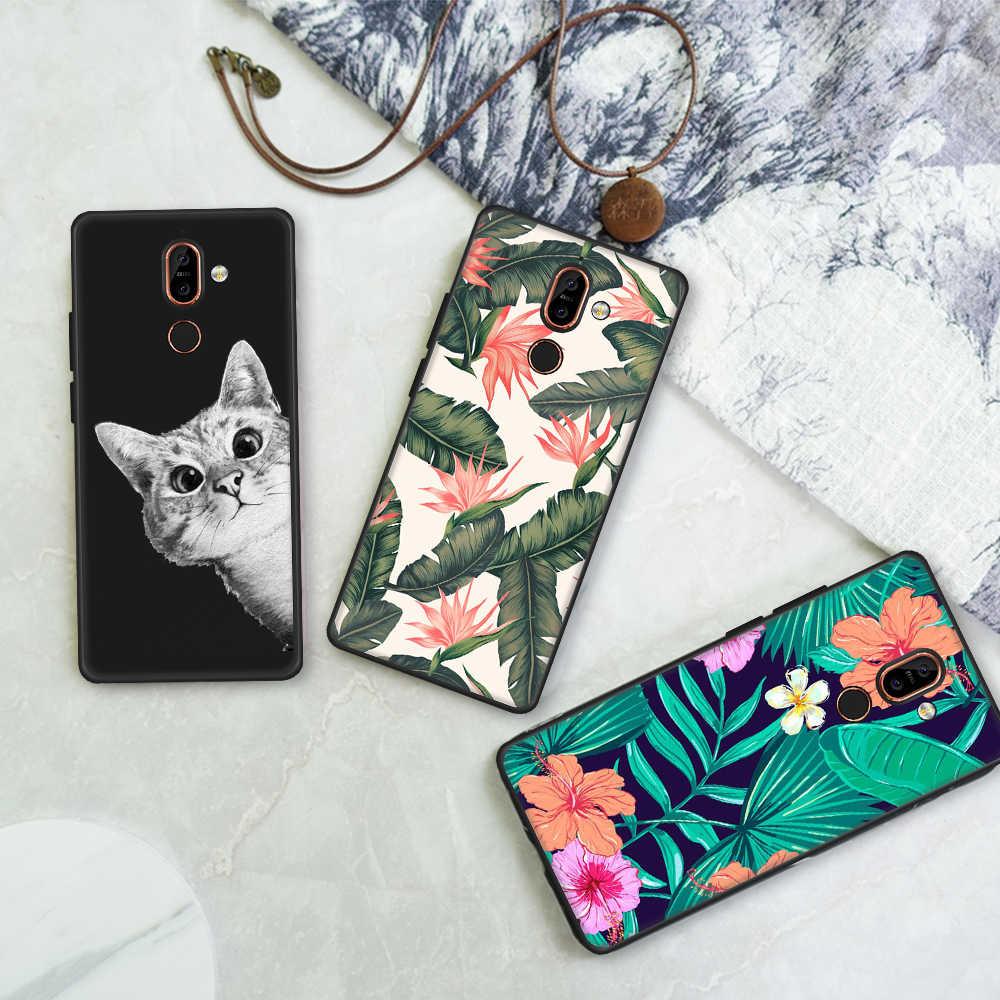 TPU טלפון מקרה עבור Nokia 3 6 2018 7 בתוספת 8 צבוע כיסוי מקרה עבור Nokia 3 6 2018 סיליקון רך מקרה מגן גב כיסוי קאפה