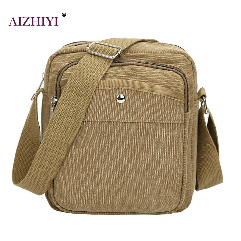 Fashion Men Canvas Shoulder Bags Casual Travel Zipper Crossbody Bag High Quality Crossbody Bag Black Khaki Brown Handbag Men Bag augur men s messenger bag multifunction canvas leather crossbody bag men military army vintage large shoulder bag travel bags