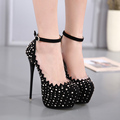 Fashion Rivet High Heels Women Shoes Party Wedding High Quality Shoes  Platform Shoes Woman Sexy   Pumps  Shoes 34-40