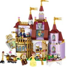Красота и чудовище замок с Belles цифры Строительный кирпич блоки игрушки для девочек Совместимость с Legoings 41067