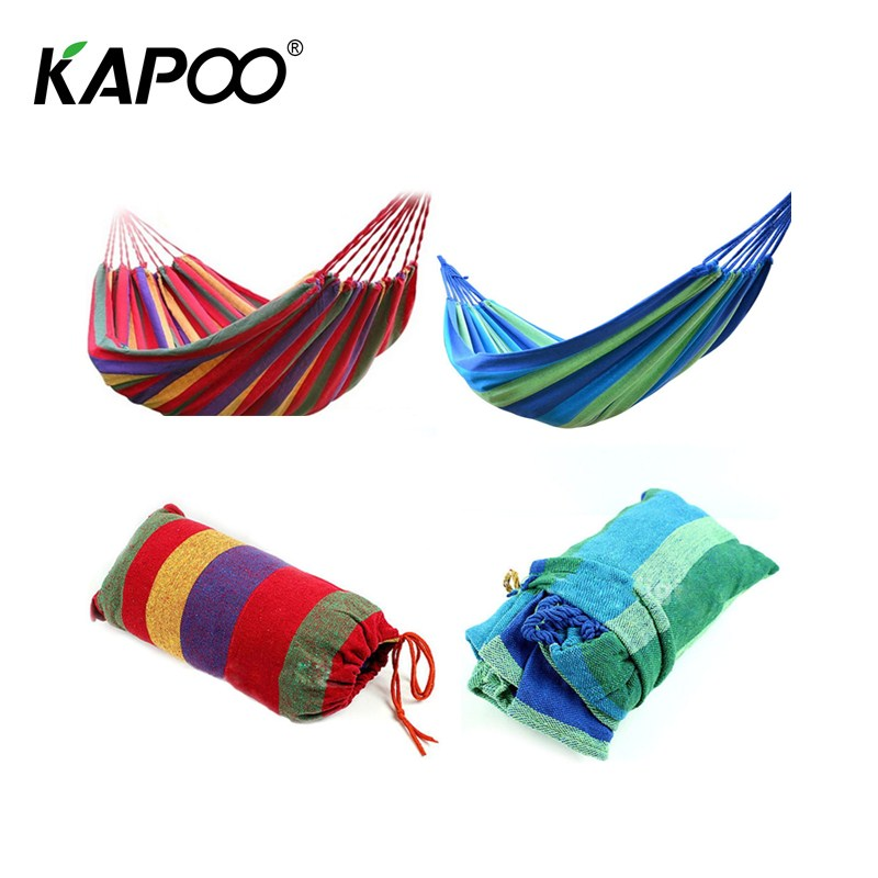Portable Double Outdoor Leisure Hammock Picnic Camping Outdoor Hunting Necessary Comfortable Soft Outdoor Furniture Leisure leisure