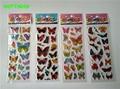 HAPPYXUAN 50 Hojas/lot Cartoon Puffy Pegatinas Niños Mariposa Mini 17*7 cm de la muchacha juguetes clásicos