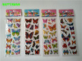 HAPPYXUAN 50 Sheets /lot Cartoon Puffy Stickers Children Butterfly Mini 17*7cm girl's classic toys
