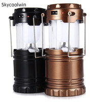 Classic style LEDs Rechargeable Camping Light Collapsible Solar Camping Lantern Tent Lights for Outdoor Camping Hiking *