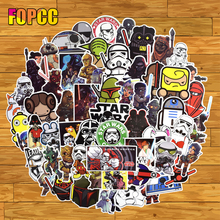100pcs/pack Not Repeat Star Wars Graffiti Waterproof Sticker For Laptop Luggage Car Guaitar Skate Moto Phone Bicycle Stickers