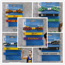 Fashion simple new basketball star shoelace sports bracelet wristband bracelet with three-piece suit hot sale(China)