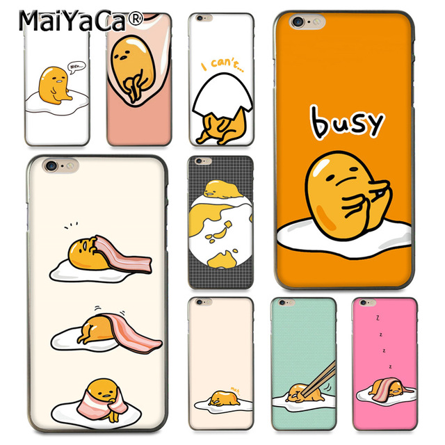 half off b909a 7c993 US $1.41 29% OFF|MaiYaCa cute lovely gudetama lazy egg Luxury fashion phone  case for Apple iPhone 8 7 6 6S Plus X 5 5S SE XS XR XS MAX-in Half-wrapped  ...
