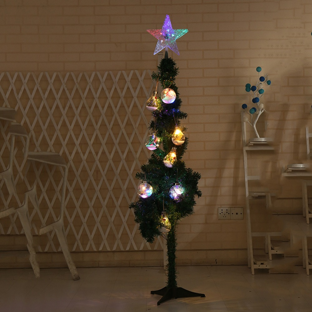 Colorful LED Decorative Lights The Top Five Star Of The Christmas Tree Shimmers