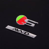 ABS S Type AWD Fender Rear Lid Truck Boot Emblem Badge Sticker For Jaguar XF XE