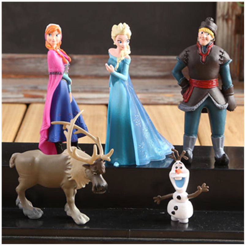 Disney Kids Toys Model-Dolls Collection Action-Figures Birthday-Gift Olaf Kristoff Anna Elsa