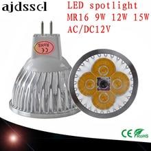 купить LED Spotlight Dimmable led spot Lamp Super GU10 9W 12W 15W E27 E14 GU5.3 AC110V 220V MR16 AC&DC12V LED Spot  LED Bulbs Lighting дешево