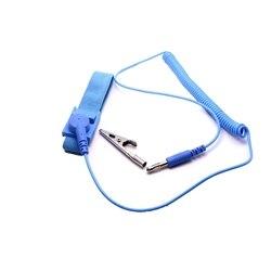 Correa de muñeca antiestática de descarga azul PU