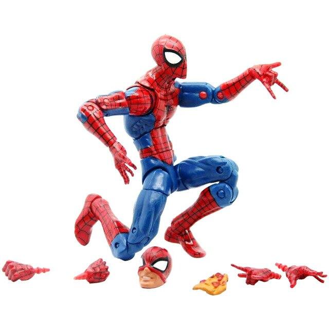 Pizza Spiderman Marvel Legends Tak Terbatas Seri Mainan Spider Man Super Hero Action Figure Model Mainan untuk Hadiah Natal Tahun Baru