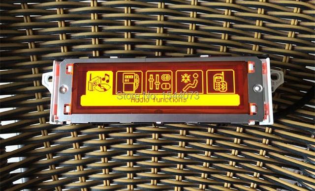 Rojo 5 menú soporte de pantalla USB francés de doble zona aire Bluetooth Monitor 12 Pin para Peugeot 307 407 408 citroen C4 C5