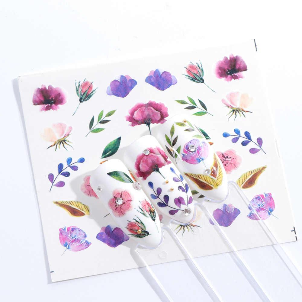 1 folhas Moda Branca Flor Beleza Polonês Itens Decalques Da Arte Do Prego Francês Dicas Tatuagens de Transferência Da Água Adesivos de Unhas Ferramenta LASTZ