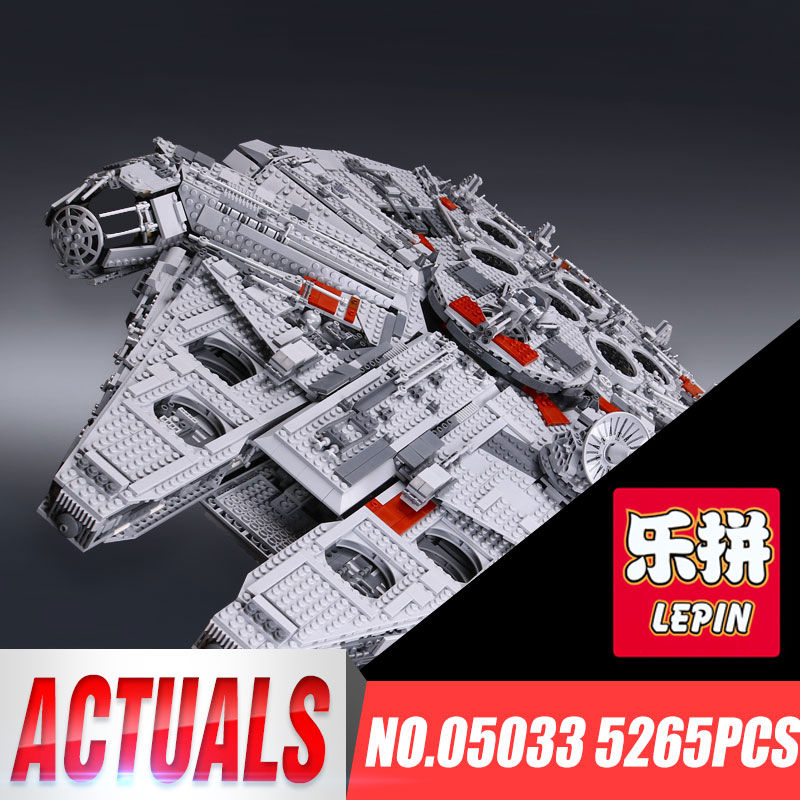 LEPIN 05033 WARS 5265Pcs Star Ultimate 10179 Collector's Millennium Toys Falcon Model Building Kit Blocks Bricks Children Toy lepin 05033 wars 5265pcs star ultimate 10179 collector s millennium toys falcon model building kit blocks bricks children toy