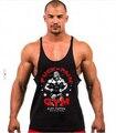 Golds Tank Top Men Bodybuilding Tank Top Shark Fitness Singlets Vest Gymshark Bodybuilding Stringer Tank Tops