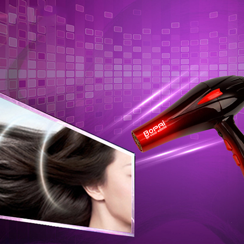 Russia Ship 4000W Powerful Professional Hair Dryer Hot Cold Wind Speed Adjust Blow Dryer Fast Drying Hairdryer EU Plug 220-240V dryer pet dog professional hair dryer ultra quiet high power stepless regulation of the speed drying machine 2400 w