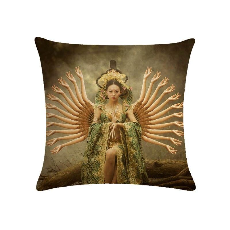 Dance of Figures in Cushion Gift Series HomerDecor Cushion Cover Throw Pillowcase Pillow Covers 45 45cm Sofa Seat Cushion D in Cushion Cover from Home Garden