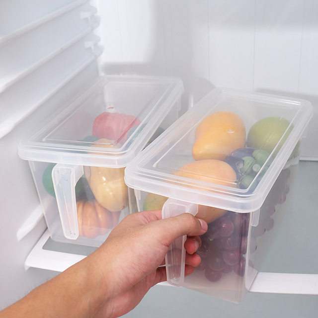 Online Shop 2PcsLot Fridge Plastic Storage Box with Handle Plastic