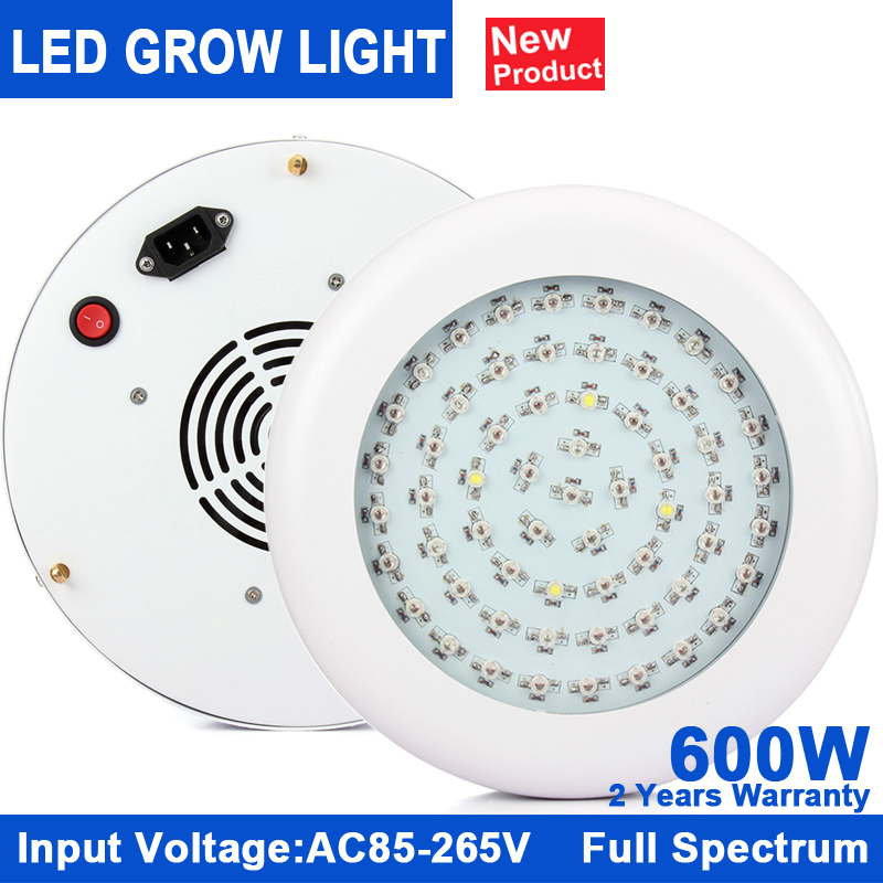 led grow light full spectrum 600W UFO LED Grow Light  hydroponic Plant Lamp Ideal for All Phases of Plant Growth and Flowering led light red blue 135w ufo led grow light plant lamp smd 660nm 460nm grow hydroponic system tent lamp