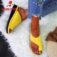 ALLENLYNN New Dropship Casual Comfort Flat Slippers Women 2019 Summer Large Size 34-43 Elegant Slides Shoes Woman
