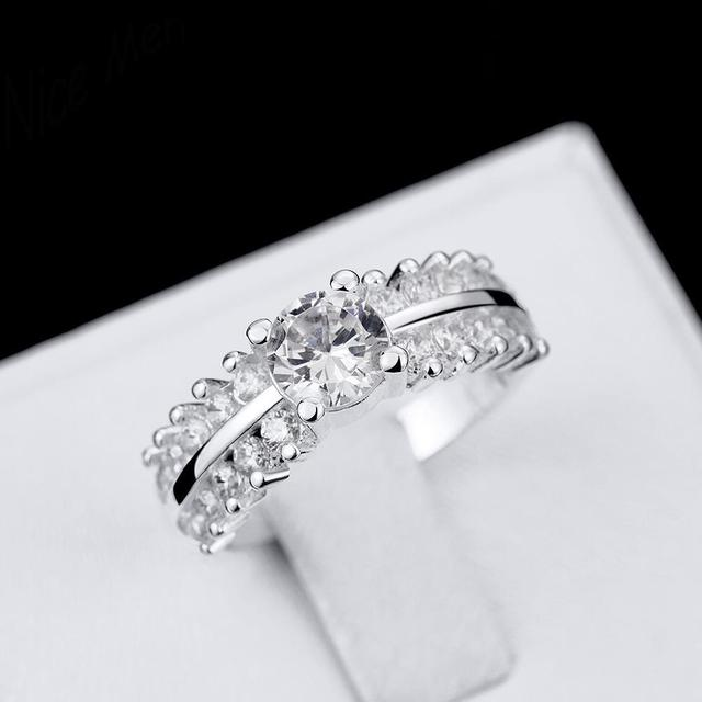 Queen crown nice ring gift box free r713 8 hot sale newest queen crown nice ring gift box free r713 8 hot sale newest princess silver wedding junglespirit Images