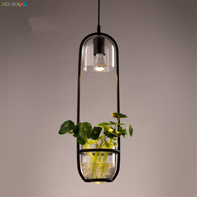 Nordic green planting lights luminaire goldfish glass aquarium plant lamps for dining room suspendu de techo