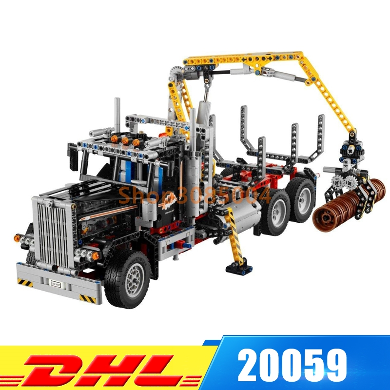 In-Stock Lepin 20059 1338Pcs Mechanical Serie The Logging Truck Set Children Educational Building Blocks Bricks Toys Model 9397 lepin 06058 ninja serie die tempel der ultimative ultimative waffe modell bausteine set kompatibel 70617 spielzeug fur kinder
