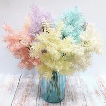6pcs Plastic Soft Rime Greenery Colorful Hard Plant artificial flowers 17.72 long Fake for Wedding Decortion