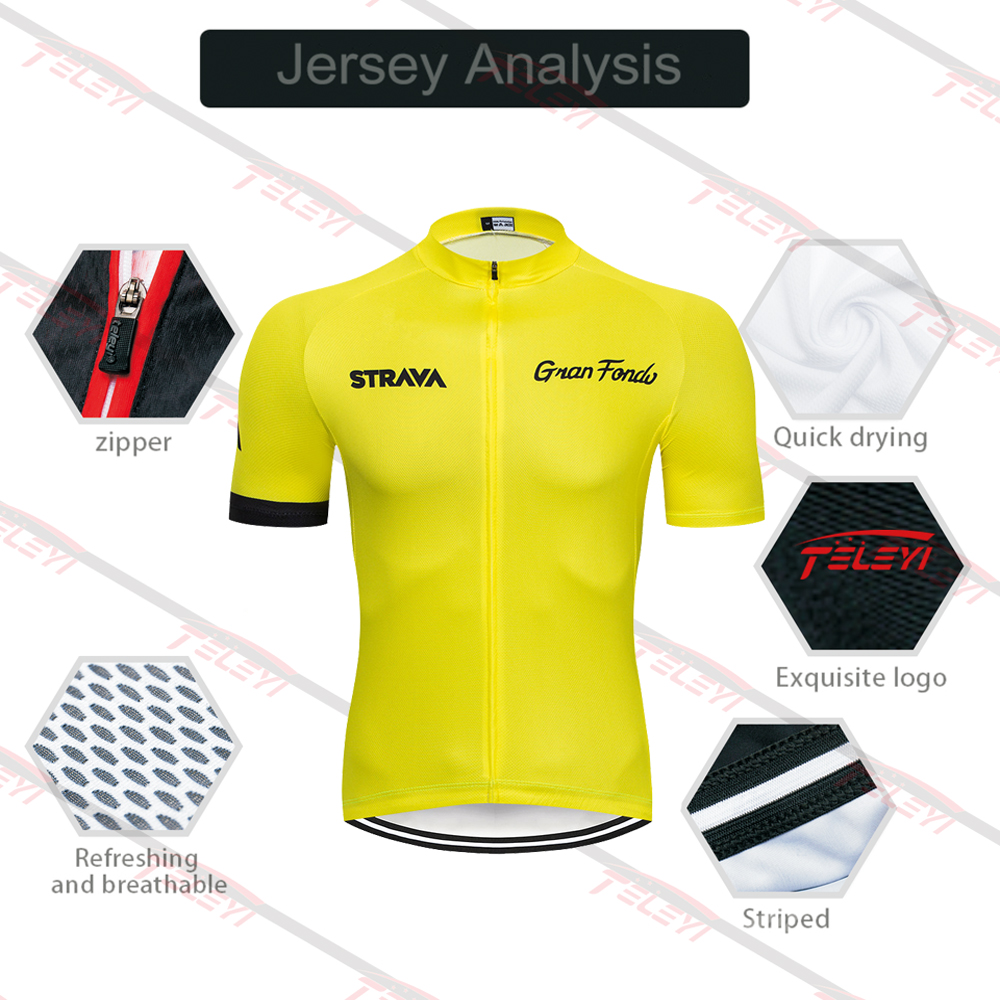 2020 STRAVA Pro Team summer cycling Jersey set Bicycle Clothing Breathable Men Short Sleeve shirt Bike bib shorts 20D Gel pad