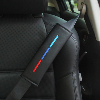 Car Seatbelt Shoulder Pad Comfortable Driving Seat Belt Vehicle Cover Cushion Harness for BMW ///M Color Driver