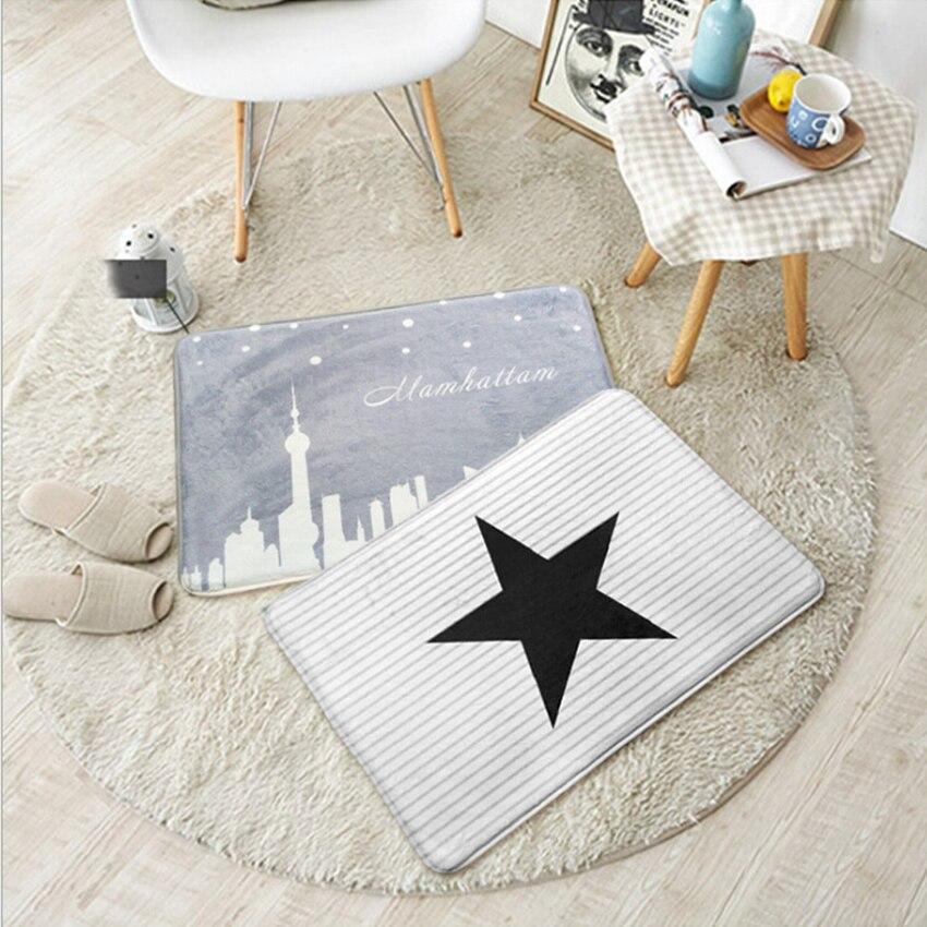 40x60cm modern fashion door floor mat non slip bathroom for Colchonetas piscina